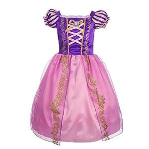 Vestido Princesa para niña - Morado Lila Rosa