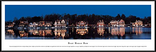 Picture Nhl Horizontal Frame (Boat House Row - Blakeway Panoramas Icon Posters with Standard Frame)