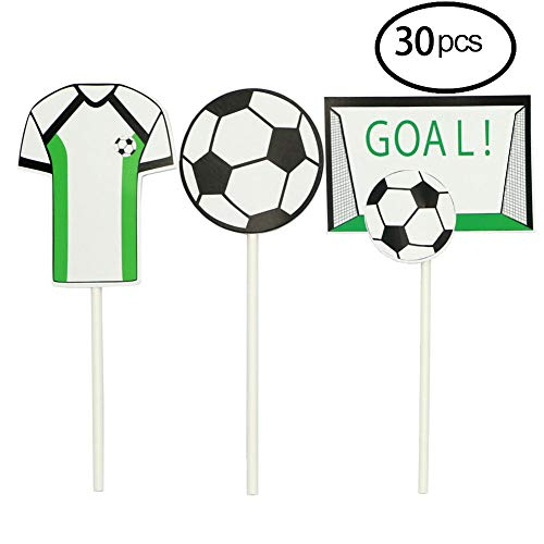 Soccer Toppers,2018 Soccer Series Decoration Appetizer/Food Picks, Afternoon Desserts Decoration On Hamburger, Desserts, Appetizer, Cakes, Cupcake Toppers -