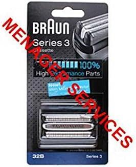 Cassette (rejilla + cuchillo) 32B afeitadora Braun (81633296 ...