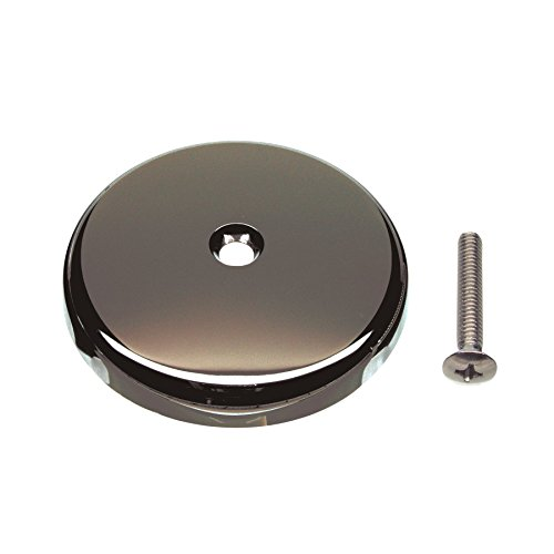 DANCO Single Hole Tub Drain Overflow Plate | One Hole | Screw Included | Oil Rubbed Bronze (89473)