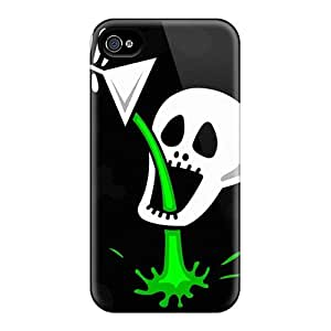 New Customized Design Skulls Cartoonish Poison Drawn Drinking For Iphone 6 Cases Comfortable For Lovers And Friends For Christmas Gifts