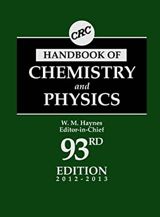 crc handbook of chemistry and physics 90th edition