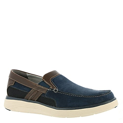 CLARKS Mens Un abode Free Casual Loafer, Navy Nubuck, 9.5 D(M) US by CLARKS