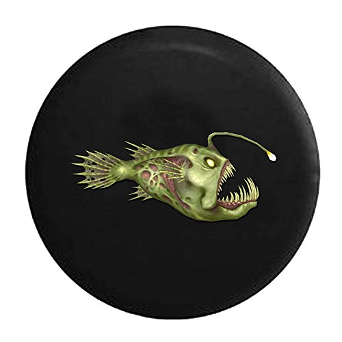 (Anglerfish Devil Fish Deep Ocean Life Tire Cover Black 26-27.5 in)