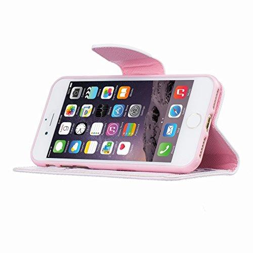 Custodia Apple iphone 7 Cover Case, Ougger Portafoglio PU Pelle Magnetico Stand Morbido Silicone Flip Bumper Protettivo Gomma Shell Borsa Custodie con Slot per Schede Moda Style 20
