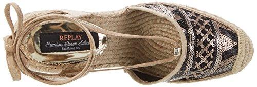 REPLAY Cherna - Tira de tobillo Mujer Beige (Bronze Beige)