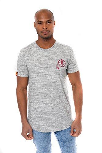 Redskins T-shirts - Icer Brands NFL Washington Redskins Men's T-Shirt Active Basic Space Dye Tee Shirt, Large, Gray