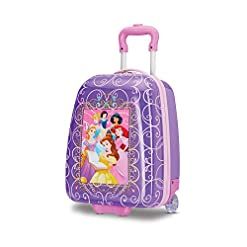 Travel Junkie 41CHpzUMndL._SS247_ American Tourister Kids' Disney Hardside Upright Luggage, Princess 2, Carry-On 16-Inch