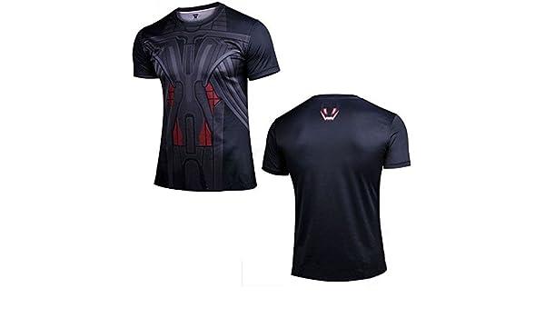 Amazon.com  FidgetFidget T-shirt Mens Compression T-shirt Cosplay Costume  Casual Sports Base Layer Blouse   Tops  24 Ultron XXXL (Compression Tops)   Sports ... d6d7b9e08