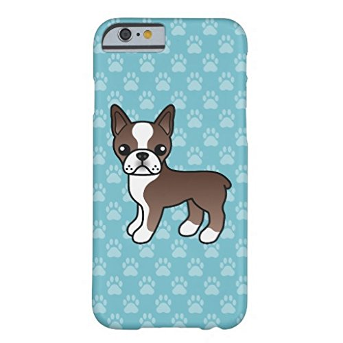Cute Chocolate Boston Terrier Dog IPhone 6/6s Plus Case