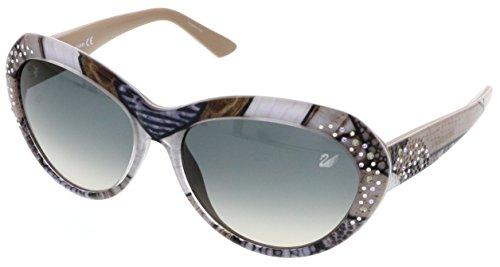 Swarovski Crystal Logo Sunglasses (SWAROVSKI for woman sk0060 - 99U, Designer Sunglasses Caliber)
