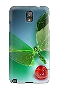 New Fashion Premium Tpu Case Cover For Galaxy Note 3 - Simply 3d Abstracts
