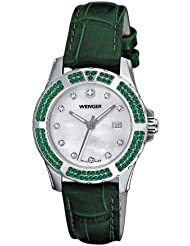 Wenger Womens 70313 Sport Elegance Green Leather Strap Watch
