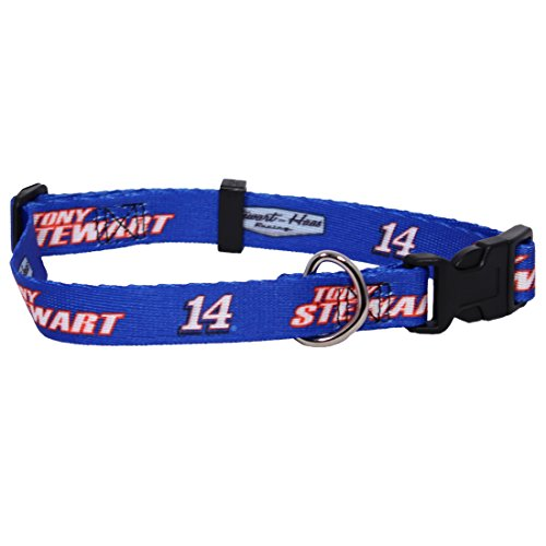 NASCAR Tony Stewart Adjustable Pet Collar, Large, Team (Nascar Dog Clothes)