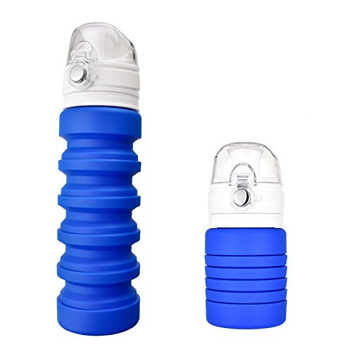 IUME Collapsible Water Bottle Foldable Silicone BPA Free Sports Water Bottle For Outdoor Sport Camping
