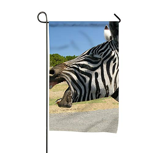 White Teeth Zebra Garden Flag Vertical Double Sided, used for sale  Delivered anywhere in Canada