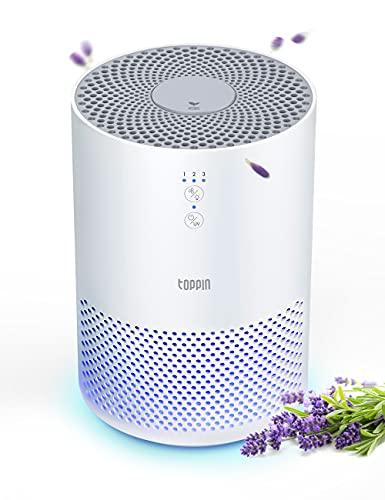 TOPPIN HEPA Air Purifiers for Home – with Fragrance Sponge UV Light, Eliminate Pollen Pet Hair Dander Smoke Dust Odors…