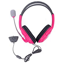 HDE Xbox 360 Headset Game Chat Xbox Live Headphone with Microphone (Pink)