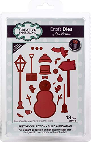 Creative Expressions CED3142 Festive Craft Dies by Sue Wilson, Build A Snowman]()