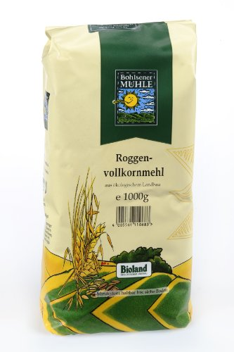 Bohlsener Mühle Roggenvollkornmehl 1er Pack (1 x 1000 g ) - Bio