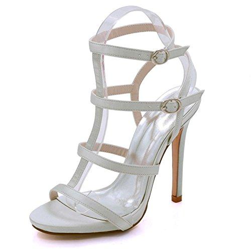 La Nupcial Zapatos 08 yc Del Party D7216 Toe Satén L Las Silver Open Alto Prom De Verano Talón Mujeres Boda ZqUw1gxwA