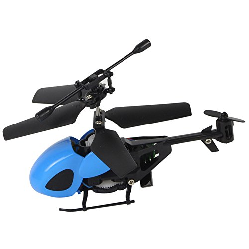 Amyove 2 Channels Remote-controlled Helicopter Mini Airplane Model Children Intellectual Toy Christmas Gift Bridge between parents and (Controlled Mini Helicopter)