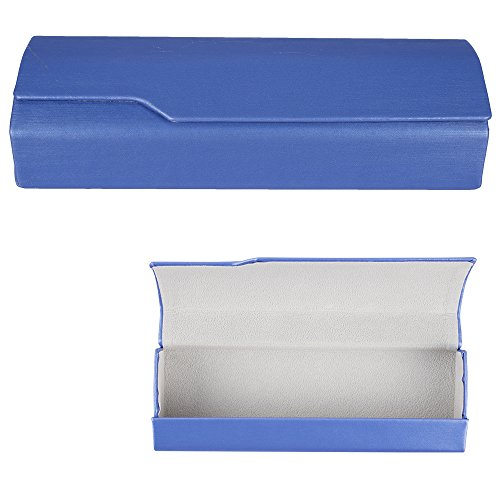 Aluminum Eyeglass Cases with Magnetic Closure - Lightweight Protective Glasses and Sunglasses Holders - Blue - Medium Size - by - Case Sunglasses Slim
