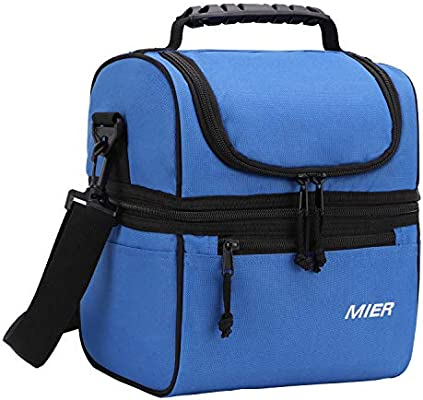 fb3bab1fb2a6 Amazon.com  MIER 2 Compartment Lunch Bag for Men Women