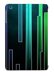 lintao diy [grqdfz-4626-lxayiey] - New Abstract Pattern Stripes Bars Rainbow Color Colorful Protective Ipad Mini/mini 2 Classic Hardshell Case
