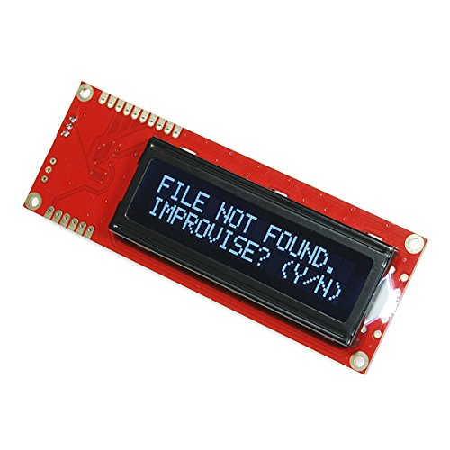 Serial Enabled 16X2 Lcd - White On Black 5V by CusCus