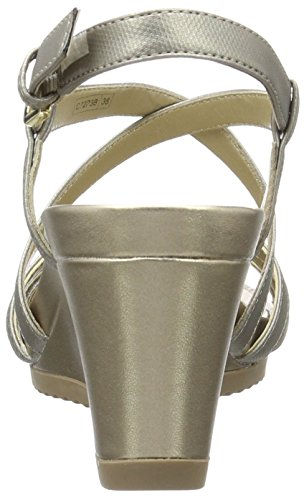 Ouvert Rorie champagnec1ab5 Silver Argent Geox Bout Femme Sandales B dk New FTWAqHX