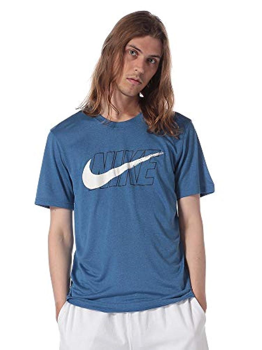 [해외] (나이키) NIKE 로고 프린트 쿨 넥 반소매 T셔츠 DRI-FIT