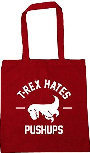 hates rex Bag Red T litres pushups Shopping x38cm HippoWarehouse 10 Beach Gym 42cm Tote Classic q4SCT