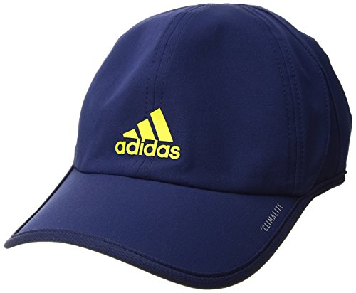 adidas Men's Superlite Relaxed Performance Cap, Night Sky/Shock Slime, One - Lightweight Cap Stretch