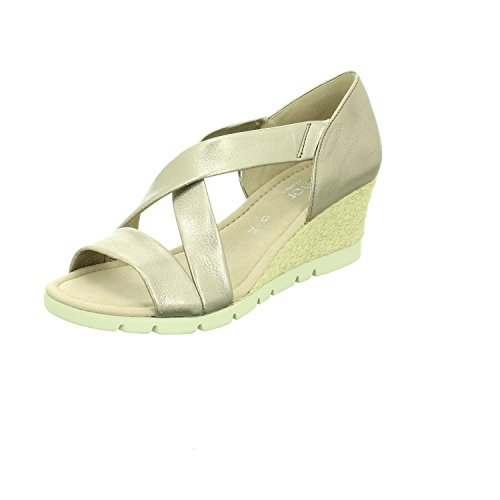 Mujer Sport Sandalia Comfort Pulsera Gabor Para Con Pewter Shoes SwFqBBHR