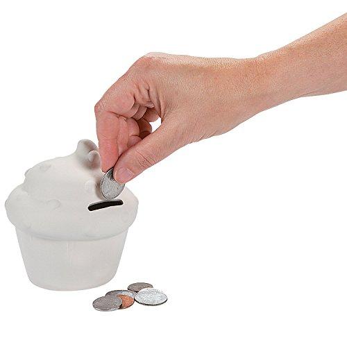 DIY Cupcake Ceramic Bank (Makes 12) Craft Kits for Kids