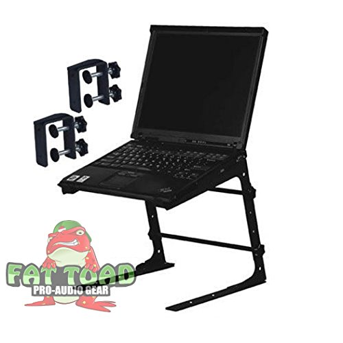 PA Mixer Studio Laptop PC Computer Table Top DJ Rack Stand Mount Clamp Case L Gear Bracket Pro-Audio Thorn Holder