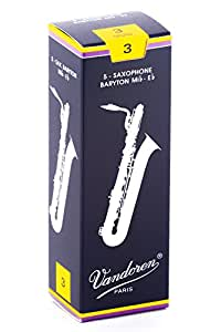 Vandoren SR243 Bari Sax Traditional Reeds Strength 3; Box of 5
