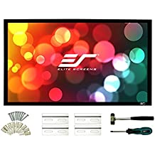 Elite Screens Sable Frame, 96-inch 2.35:1, Sound Transparent Fixed Frame Projection Projector Screen, ER96WH1W-A1080P3