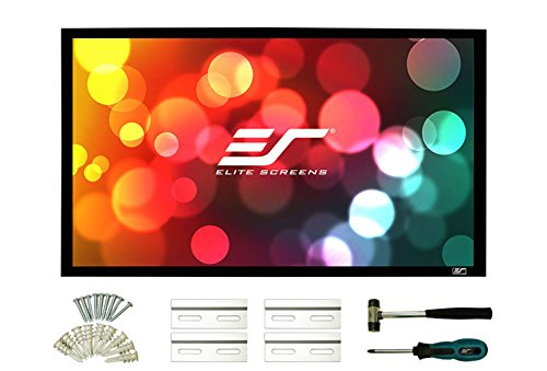 Elite Screens Sable Frame 2, 100-INCH DIAG. 16:9, 4K / 8K Ultra Active 3D HD Ready, Fixed Frame Home Movie Theater Projection / Projector Screen, ER100WH2 by Elite Screens