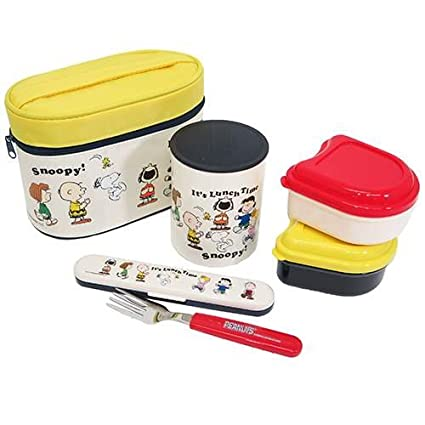 8d2366b06b1b Amazon.com: Lunch box with heat insulated jar with snoopy fork ...