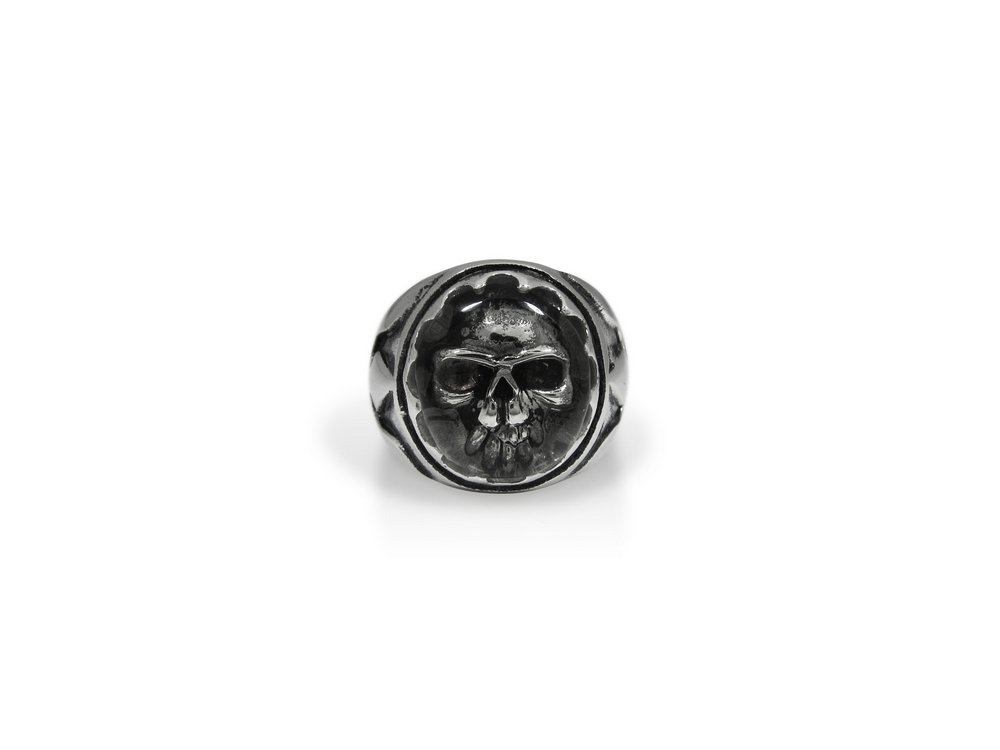 TheBikerMetal 316L Stainless Steel Skull Head Ring for 81 Outlaw Harley TR160 (10)