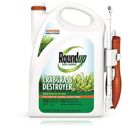 Roundup for Lawns Crabgrass Destroyer1 Ready-to-Use with Extended Wand, Brown/A, 1 Gallon (Best Herbicide For Crabgrass)