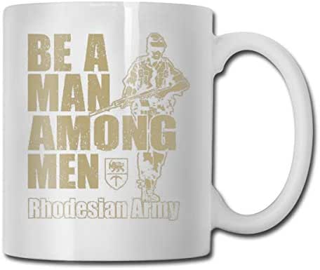 KEEHUA Be A Man Among Men Rhodesian Army Recruitment Poster Yx785 Best Product Home Ceramic Tea Cup Office White Coffee Mug 11 Oz