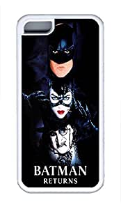 5C Case, iPhone 5C Case Galaxy Pattern Bat Man Returns Dark Cute iPhone 5C Shoockproof White Soft Case Full Body Hybrid Impact Armor Defender Cover protective Case for iPhone 5C