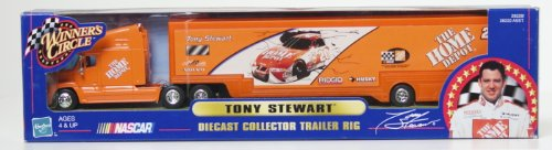 Winner's Circle Diecast Collector Trailer Rig Tony Stewart The Home Depot 1/64 Scale car trailer