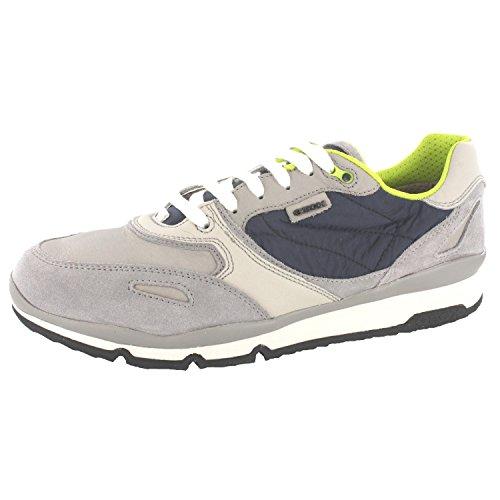 GEOX U52A6A-022FU/C1965 hommes Chaussures à lacets, gris 41 EU