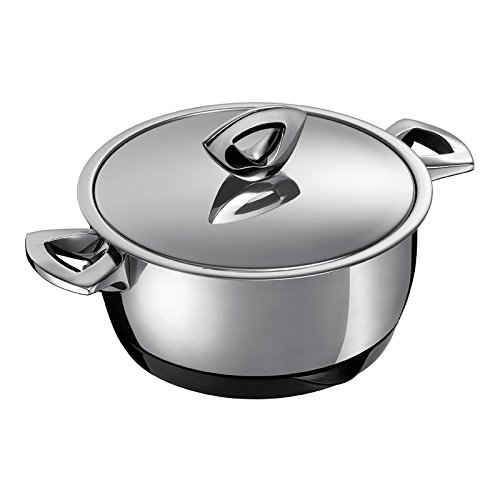 Kuhn Rikon Durotherm Swiss-Made Cookware, Casserole with Lid, 6-Inch - 1QT