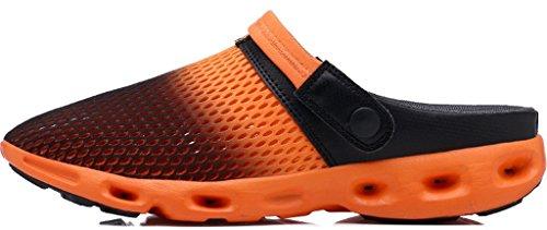 Mulas Verano Sandalias Zuecos De Unisex Azul Orange Walking Mesh Zapatillas Outdoor Strand Clogs WuXi 35 Zapatos Zapatos Rosa Jardín Naranja Playa Verde 40 q6IEX